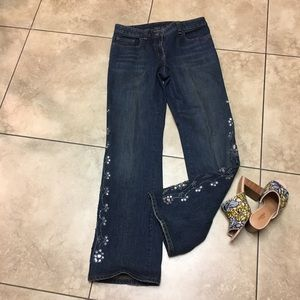 INC Jewel Embellished Jean Concert Jeans